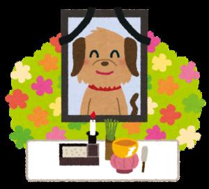 ペットのお葬式をイメージしたイラスト画像