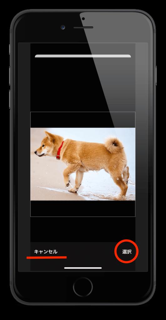アプリのトップ画面の②の画像を変更するときのスクリーンショット