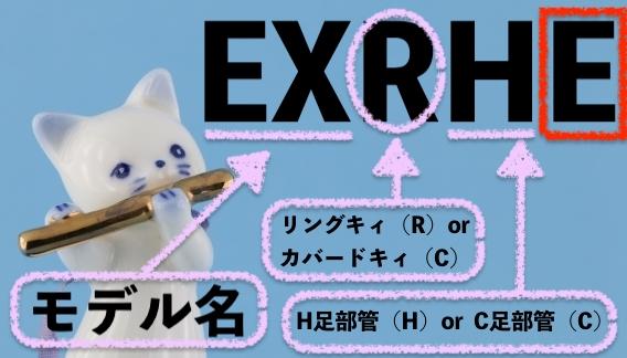 モデル名の型番の説明:EXの後に来る文字でどんなフルートなのかが分かります。
