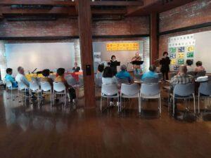 熊取交流センター(煉瓦館)でのスターゴールド150のコンサートの画像